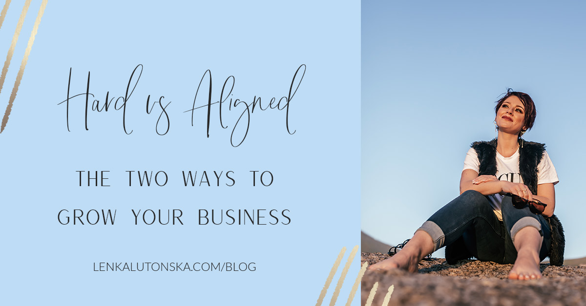 Two ways to grow your business - hard vs aligned